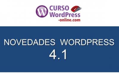 Novedades WordPress 4.1