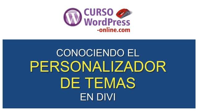 Curso WordPress con Divi 3.0 - Curso Wordpress Online con DIVI
