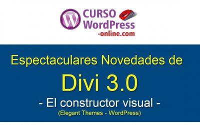 ¡Divi 3.0, el mejor tema de Wordpress, ha llegado más espectacular que nunca! Ahora con editor visual ultra rápido y mucho más fácil de usar.