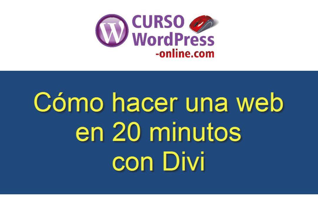 Como hacer una web en 20 minutos con Divi