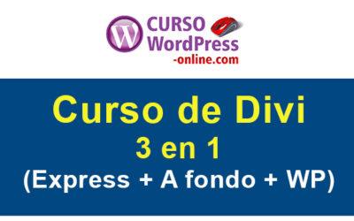 Curso de Divi (3 en 1): Divi express + Divi a fondo + WordPress