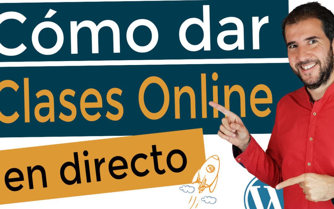 Cómo dar clases online en directo (la mejor forma de hacerlo)