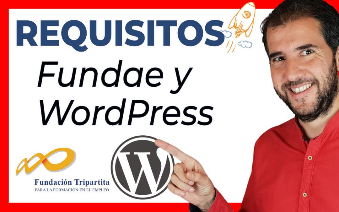 Requisitos para impartir cursos online de formación bonificada con WordPress (FUNDAE)